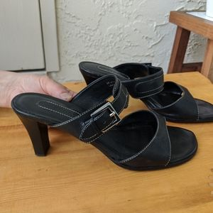 Black mules with heel
